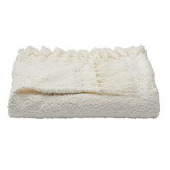 LC Lauren Conrad Chenille Fringe Throw
