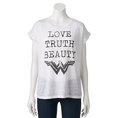 Juniors' DC Comics Wonder Woman 'Love Truth Beauty' Graphic Tee