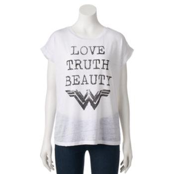 "Juniors' DC Comics Wonder Woman ""Love Truth Beauty"" Graphic Tee"