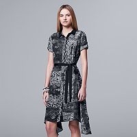 Women's Simply Vera Vera Wang Mix-Media Shirtdress