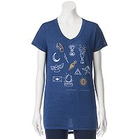 Juniors' Harry Potter Magic Symbols High-Low Graphic Tee