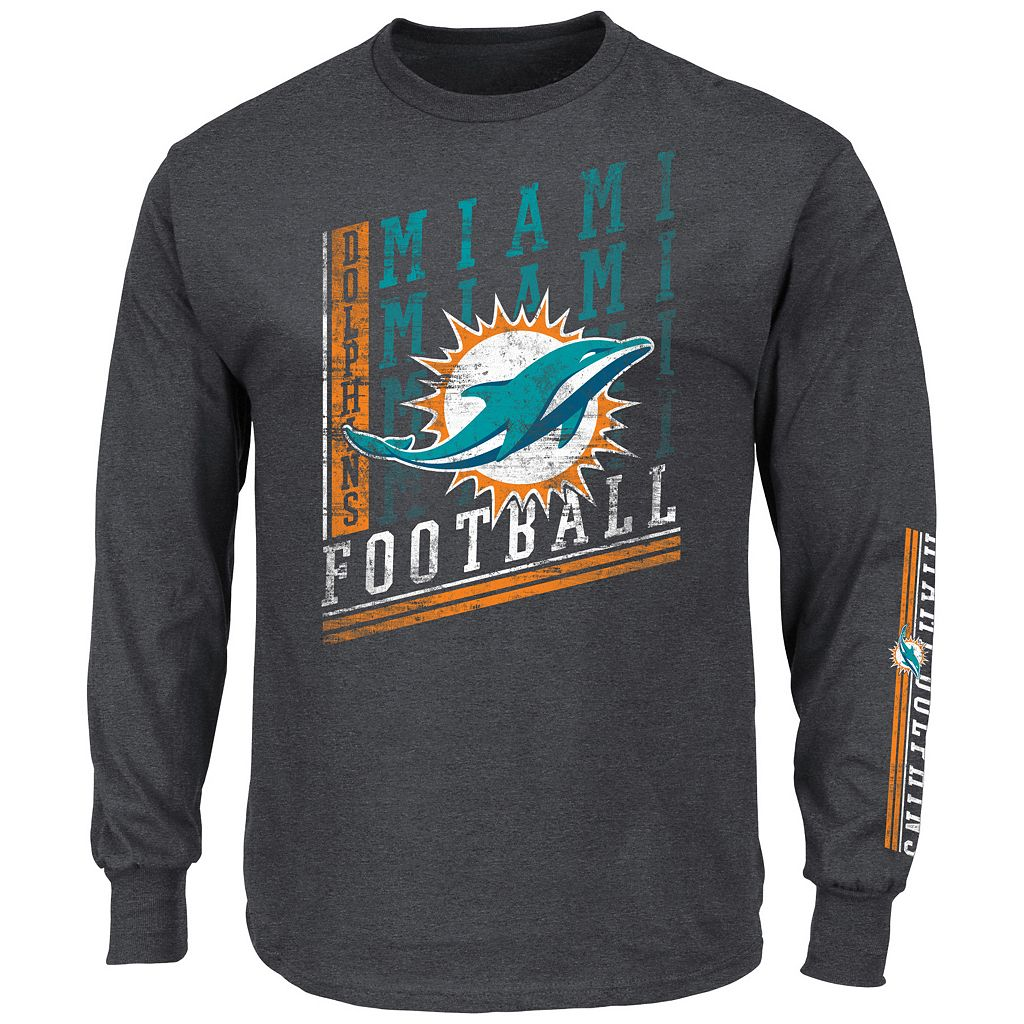 Men's Majestic Miami Dolphins Dual Threat Tee