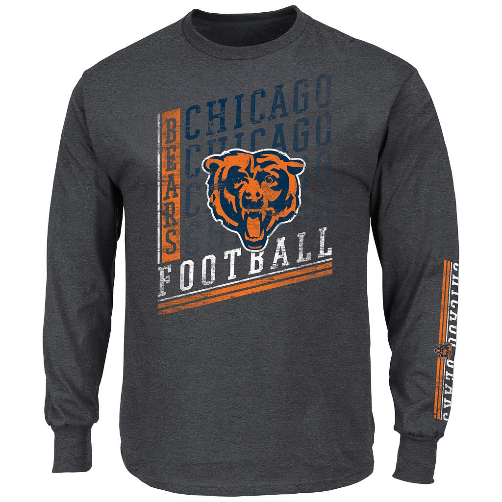 Men's Majestic Chicago Bears Dual Threat Tee