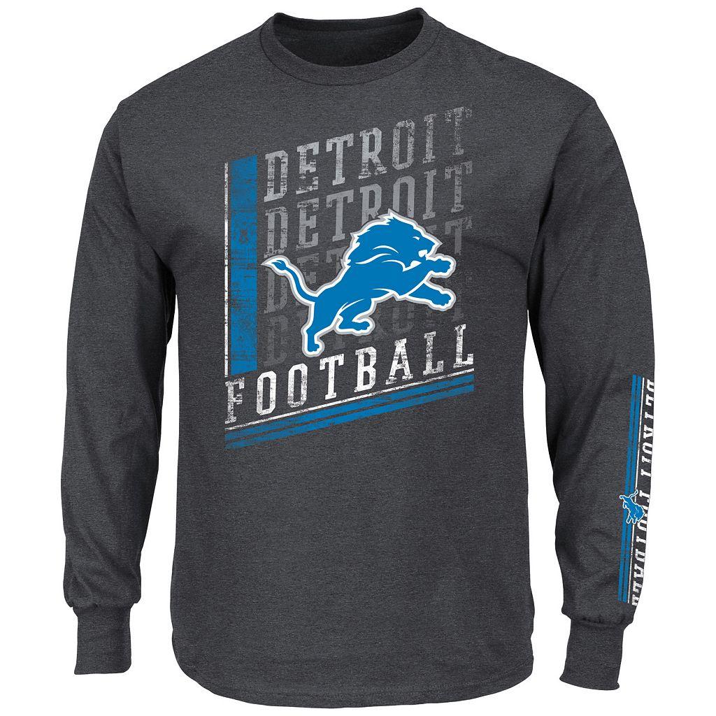 Men's Majestic Detroit Lions Dual Threat Tee