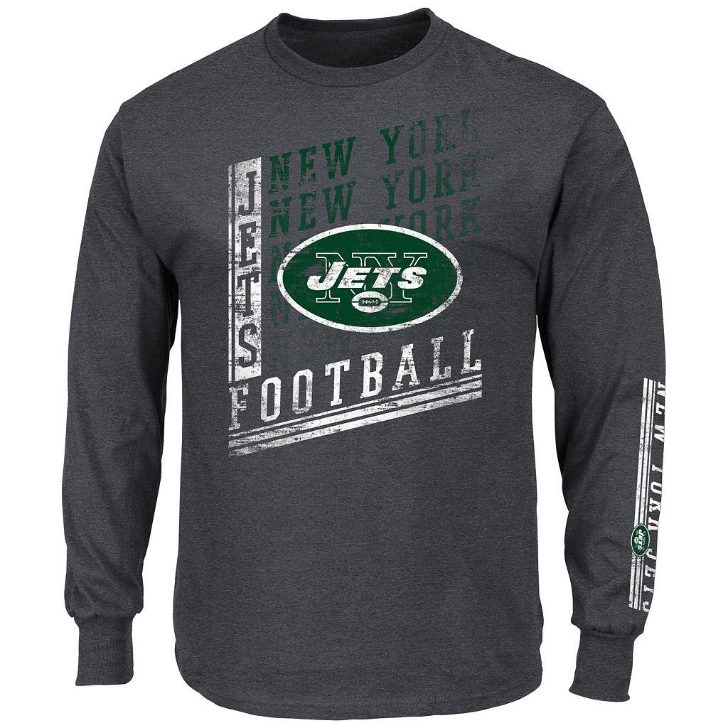 Men's Majestic New York Jets Dual Threat Tee