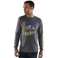 Men's Majestic Baltimore Ravens Dual Threat Tee