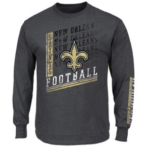 Men's Majestic New Orleans Saints Dual Threat Tee