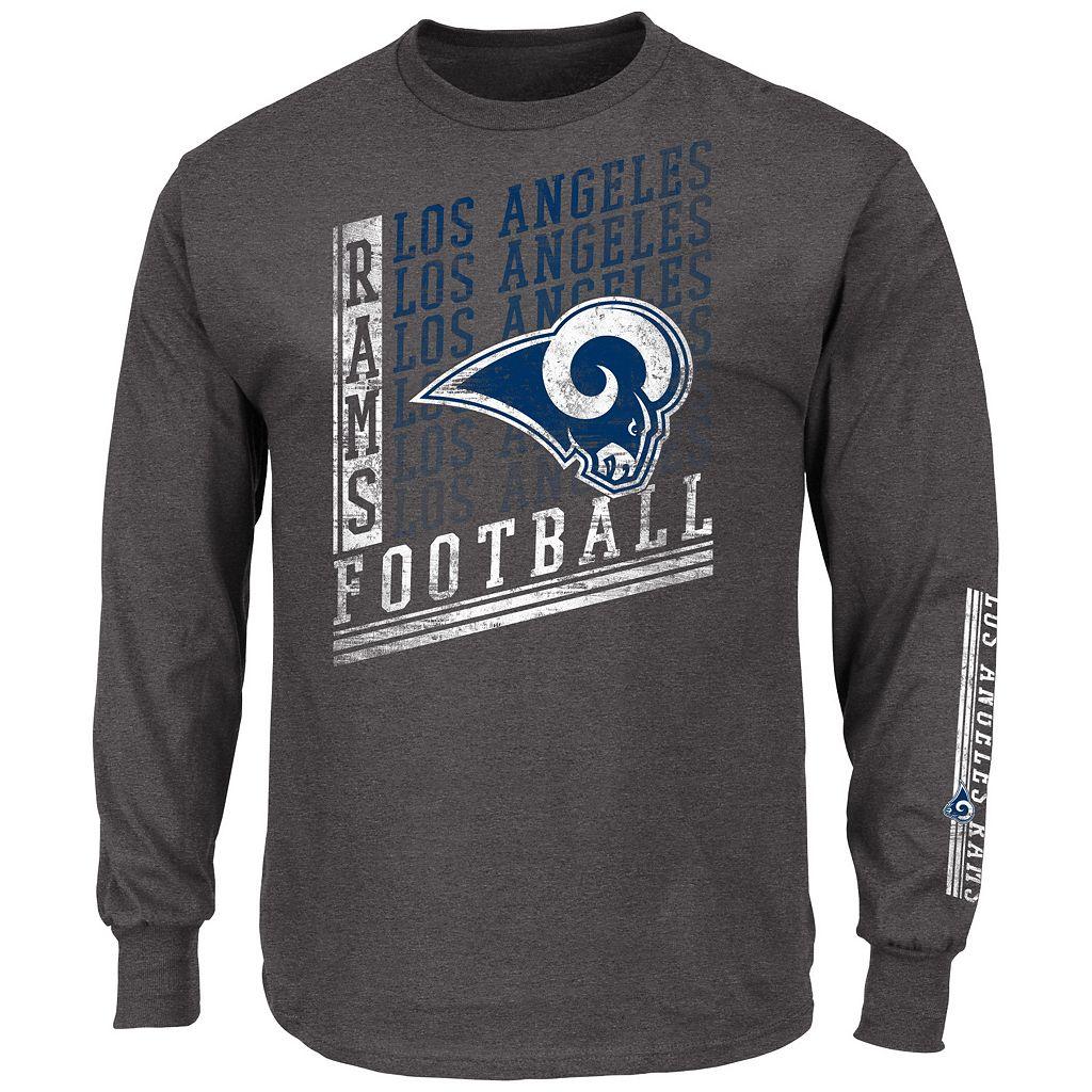 Men's Majestic Los Angeles Rams Dual Threat Tee