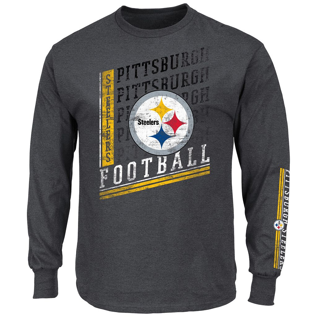 Men's Majestic Pittsburgh Steelers Dual Threat Tee