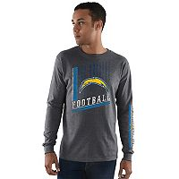 Men's Majestic Los Angeles Chargers Dual Threat Tee