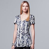 Women's Simply Vera Vera Wang Print V-Neck Tee