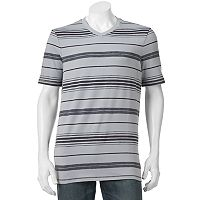 Big & Tall Urban Pipeline® MaxFlex Athletic-Fit Striped V-Neck Tee