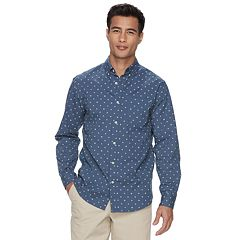 Big & Tall Urban Pipeline® Classic-Fit MaxFlex Roll-Tab Button-Down Shirt