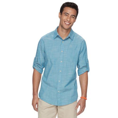 Big & Tall Urban Pipeline® Classic-Fit MaxFlex Roll-Tab Button-Down Shirt