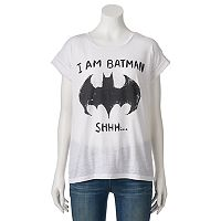 Juniors' DC Comics Batman Cuffed Graphic Tee