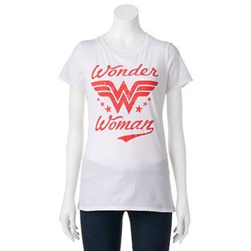 Juniors' DC Comics Wonder Woman Burnout Graphic Tee