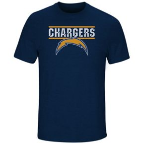 Men's Majestic Los Angeles Chargers Flex Team Tee