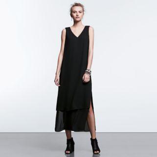 Women's Simply Vera Vera Wang Simply Noir Layered Maxi Dress
