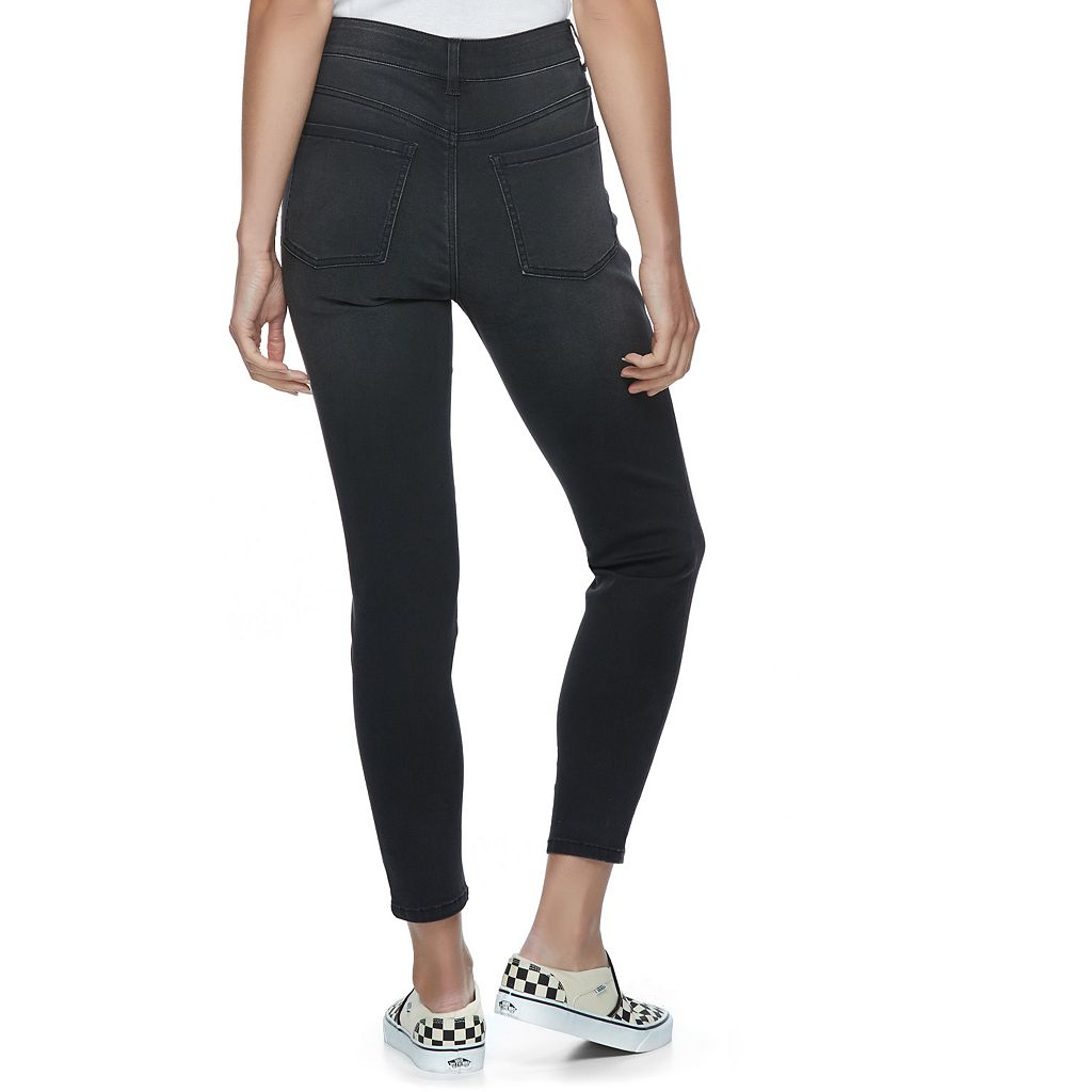 Juniors' SO® Button Fly Ankle Jeggings