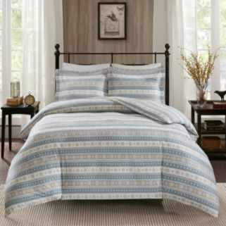 Woolrich 3-piece Nordic Snowflake Flannel Comforter Set