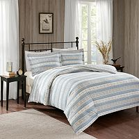 Woolrich 3 pc Nordic Snowflake Flannel Duvet Cover Set