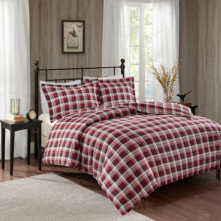 Woolrich 3-piece Tasha Flannel Duvet Cover Set