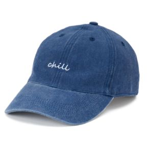 "Women's SO® ""Chill"" Denim Baseball Cap"