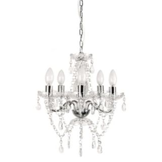 Tadpoles 5-Bulb Genuine Crystal Grand Chandelier Light Fixture Shade