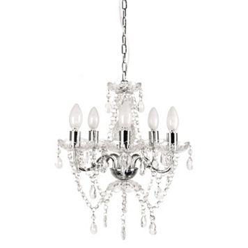Tadpoles 5-Bulb Genuine Crystal Grand Chandelier Light Fixture Shade