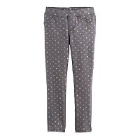 Girls 4-10 Jumping Beans® Glitter Heart Jeggings