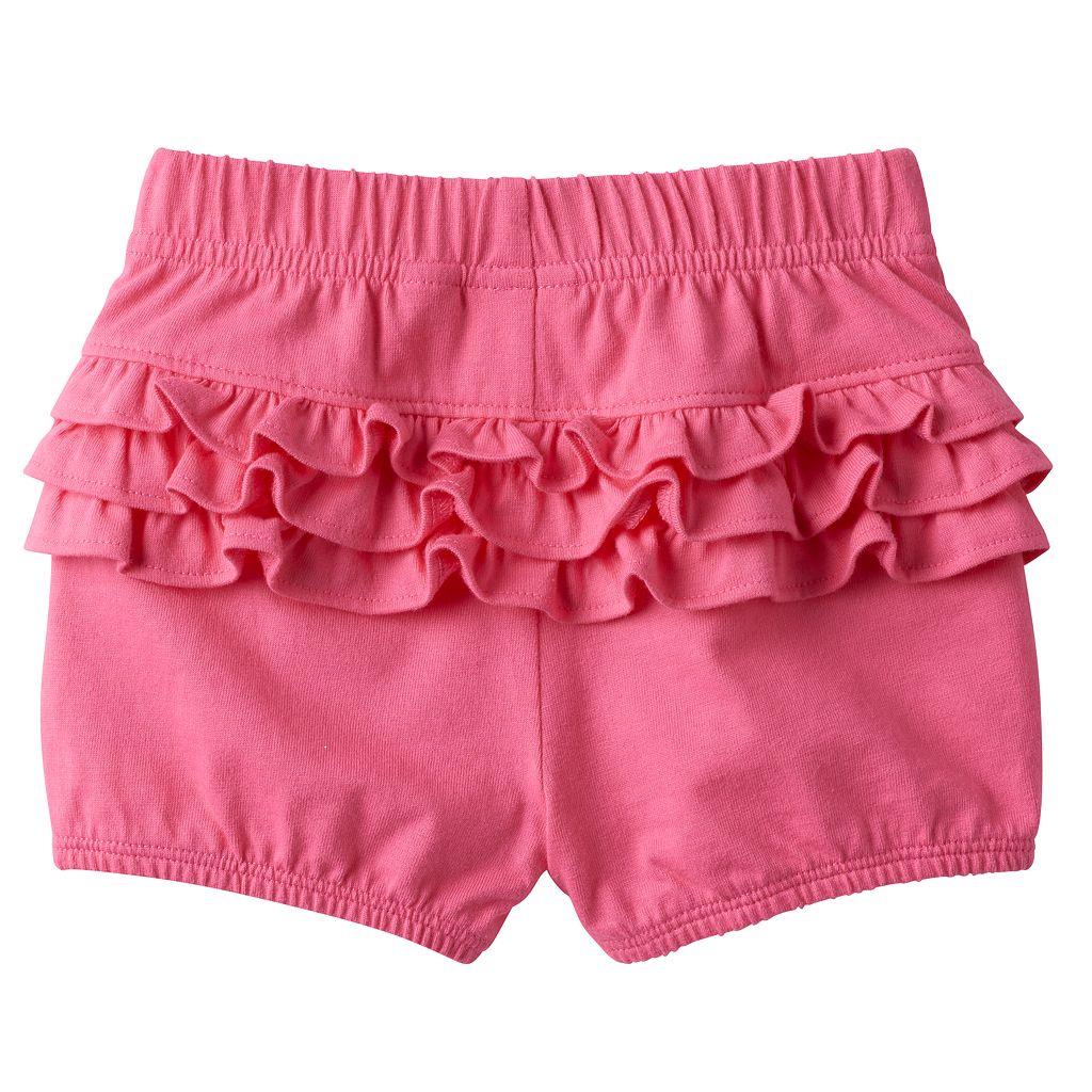 Baby Girl Jumping Beans® Ruffled Bubble Shorts