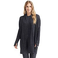 Women's Cuddl Duds Sweater Knit Wrap Cardigan