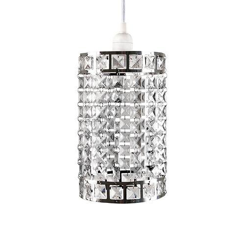 tadpoles faux crystal triple layer dangling pendant chandelier light
