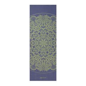 Gaiam 6mm Peacock Lace Reversible Yoga Mat