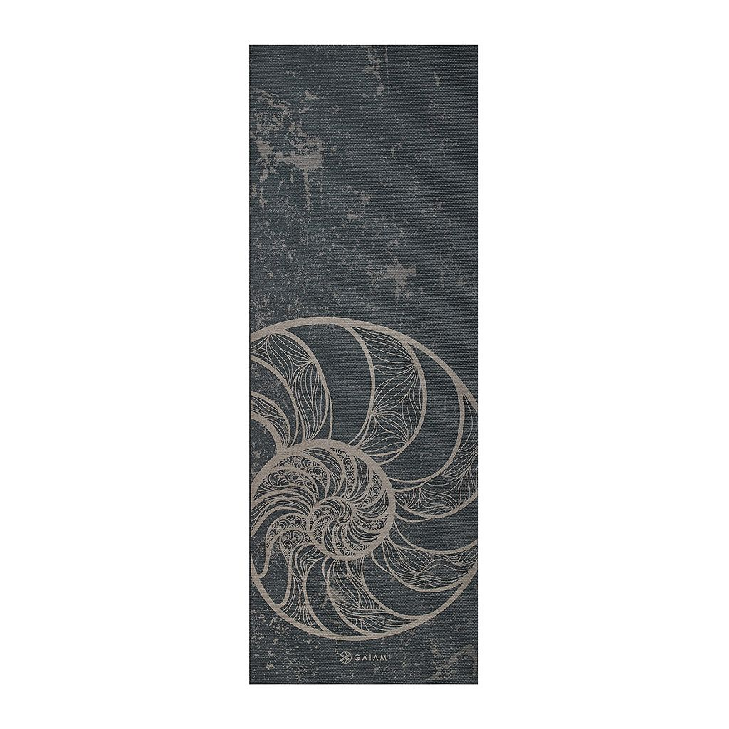 Gaiam 6mm Spiral Motion Reversible Yoga Mat