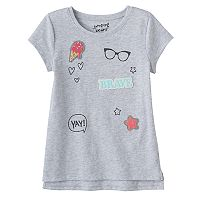 Girls 4-10 Jumping Beans® Graphic Step Hem Tee