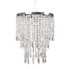 Tadpoles Faux-Crystal Triple Layer Dangling Pendant Chandelier Light Fixture Shade