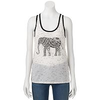 Juniors' THE PRINT SHOP Hamsa Elephant Graphic Tank