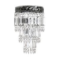 Tadpoles Small Faux-Crystal & Chrome Queen's Crown Pendant Chandelier Light Fixture Shade