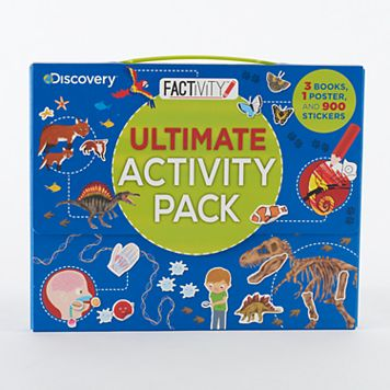 Kohl's Cares® Ultimate Activity Pack Sticker Book & Poster 4-piece Set by Discovery Kids