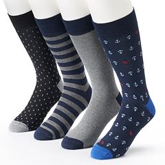 Men's Croft & Barrow 4-pack Anchor Dress Socks