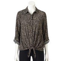 Women's Dana Buchman Tie-Front Shirt
