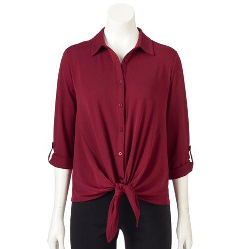 21917eee536261 Women's Dana Buchman Tie-Front Shirt