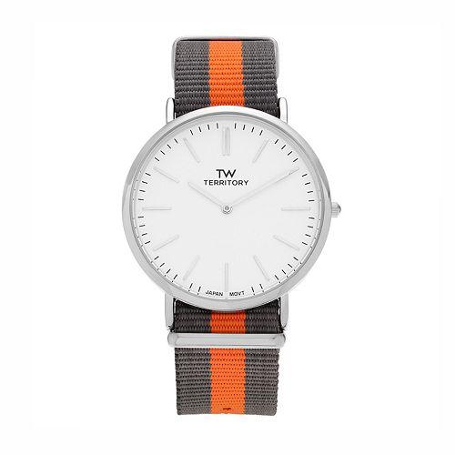 Territory Men's Striped Watch