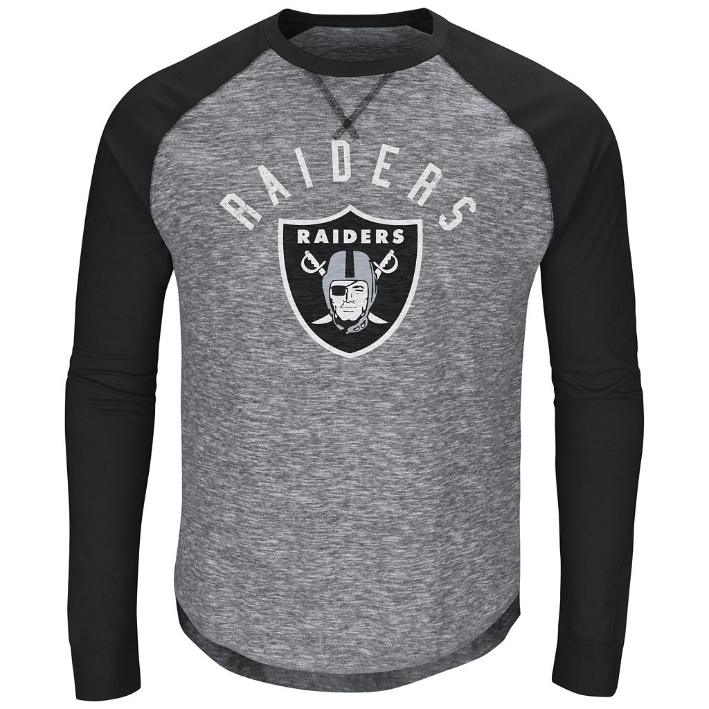 Men's Majestic Oakland Raiders Corner Blitz Tee