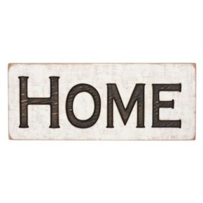 """Home"" Rustic Box Sign Wall Decor"