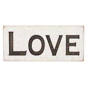 """Love"" Rustic Box Sign Wall Decor"
