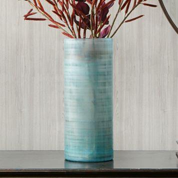 Madison Park Doli Large Frost Blue Vase