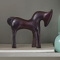 Madison Park Paulie Pony Brass Table Decor