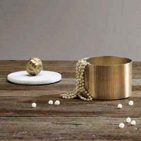 Madison Park Kayden Small Gold Finish Decorative Canister